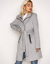 Vero Moda Lys grå Vmprato Rich 3/4 Wool Jacket Noos