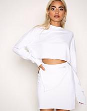Missguided White Raw Edge Sweat Skirt