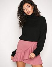 New Look Gunmetal Frill Mini Skirt