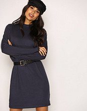 NLY Trend Grå Loose Fit Polo Dress