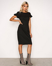 Closet Black Frill Yoke Tie-back Pencil Dress
