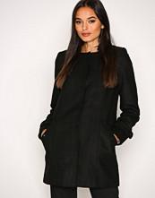 Vero Moda Svart Vmnerina Rich 3/4 Wool Jacket Boos