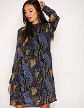 Object Collectors Item Mørk blå Objtia L/S High Neck Dress 92