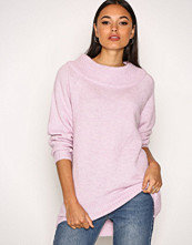 New Look Pink Longline Bardot Jumper