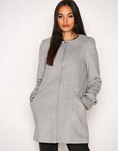 Vero Moda Lys grå Vmnerina Rich 3/4 Wool Jacket Boos