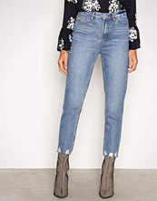 New Look Blue Ripped Mom Jeans