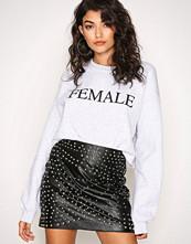 Missguided Black Stud Faux Leather Mini Skirt