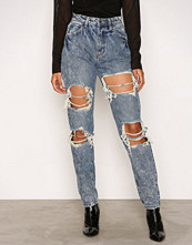 Missguided Blue Riot High Rise Mom Jeans