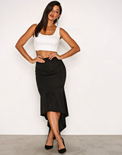 NLY One Svart Low Frill Maxi Skirt