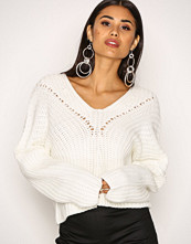 Missguided Ivory Lace Up Knitted Jumper