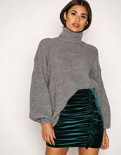 NLY Trend Mørk grønn Velvet Flounce Skirt