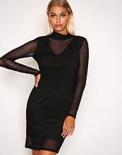 Vero Moda Svart Vmkira Ls Mesh Short Dress