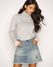 Odd Molly Mid Blue Band Jeans Skirt