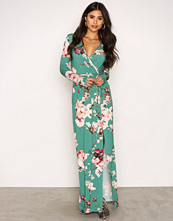 NLY One Grønn Print Maxi Dress