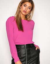 NLY Trend Fuchsia Tied Blouse