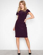 Lauren Ralph Lauren Purple Kolbina Short Sleeve Day Dress