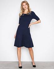 Lauren Ralph Lauren Navy Teagin Elbow Sleeve Dress