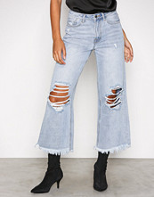 Missguided Blue High Rise Wide Leg Jeans