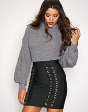 Missguided Black Lace Up Bandage Skirt
