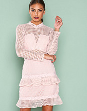 True Decadence Pale Blush Mesh Detail Dress