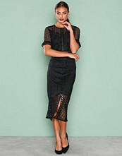 True Decadence Black Detail Short Sleeve Dress