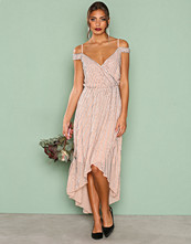 True Decadence Blush Detail Wrap Dress