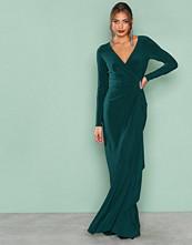 Lauren Ralph Lauren Green Pascha Long Sleeve Evening Dress