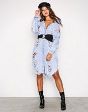 Missguided Stone Maxi Denim Dress