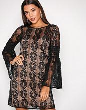 Michael Kors Black Bell Sleeve Lace Dress