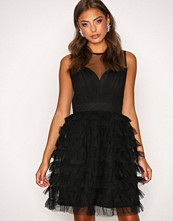 Little Mistress Black Mesh Detail Dress