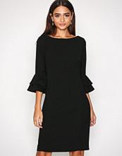 Lauren Ralph Lauren Black Valakis Elbow Sleeve Casual Dress