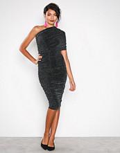 Honor Gold Black Alicia Shimmer Midi Dress