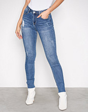 Missguided Blue Sinner High Waist Jeans