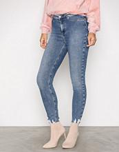 New Look Blue Disco Fray Hem Trousers