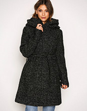 Vila Svart Vicama New Wool Coat-Noos