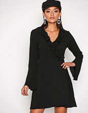 Glamorous Black Short Sleeve Chiffon Dres