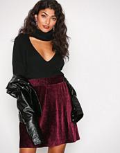 Pieces Plommefarge Pcalibama Velvet Skirt Ff