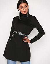 Glamorous Black Long Sleeve Turtle Neck Dress