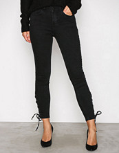 New Look Black Lace Up 5 Pocket Skinny