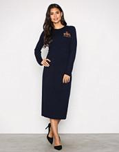 Polo Ralph Lauren Navy Crew Neck Casual Dress