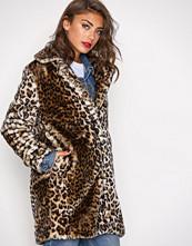 Vero Moda Lys brun Vmdebora 3/4 Fake Fur Jacket
