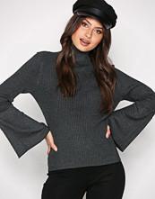 Only Mørk grå onlALMA L/S Bell Sleeve Pullover Kn