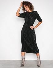 Vila Svart Vifrances 2/4 Sleeve Dress/P