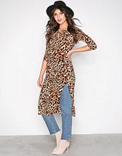For Love & Lemons Cheetah, Gold, Black, Silver Leo Midi Dress