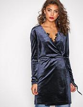 Vila Blå Vivelvetine Short Dress/2