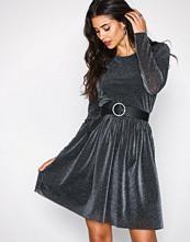 Pieces Svart Pcrima L/S Dress