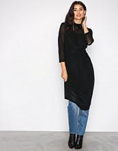 Object Collectors Item Svart Objczech L/S High Neck Midi Dress A