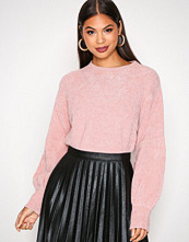 NLY Trend Lys rosa Puffed Sleeve Chenille