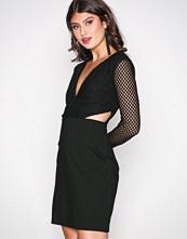 Glamorous Black Fishnet Dress