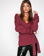 NLY Trend Burgundy Front And Back Sweat